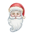 Watercolor head of Santa Claus vector image