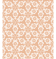 Seamless white lace pattern on beige background vector image