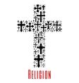 Christianity cross icon Religion symbol vector image vector image