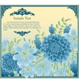 Floral greeting card in retro style vector image