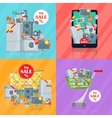 Set of Banners Household Appliances E-commerce vector image