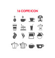 set of coffee equipment and accessories vector image