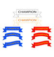 ribbon with inscriptions vector image vector image
