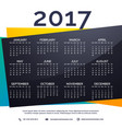 2017 new year calendar template vector image