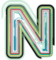 Abstract colorful Letter N vector image