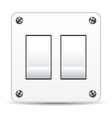 dual light switch vector image vector image