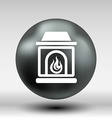fireplace icon button logo symbol concept vector image