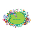 spring floral frame with stars vector image