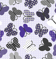 Seamless background with patterned butterflies vector image vector image
