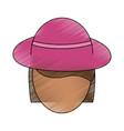 beautiful woman hat vector image