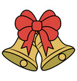 christmas bell decorative icon vector image