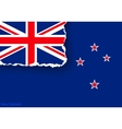 design flag new zealand from torn papers with vector image