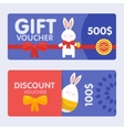 Easter voucher and discounts pattern set vector image