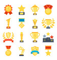 flat pictures set of different trophy vector image