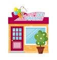 Ice cream store vector image