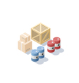 isometric set of different cargo blue and red oil vector image