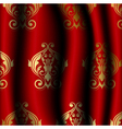 luxury red material with gold pattern vector image