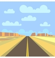 Road highway and mountain landscape background vector image