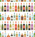 seamless pattern with alcohol bottles vector image