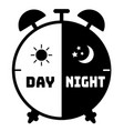 silhouette clock icon on a white background vector image