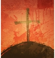 The cross on the grunge background The biblical vector image