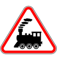 Train sign vector image