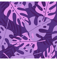 Violet tropical leafs vector image