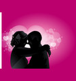 love couples with love boken vector image