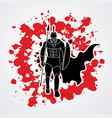 spartan warriorroman fighter with a spear walking vector image