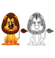doodle animal for wild lion vector image vector image
