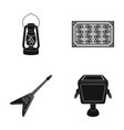 lamp carpet and other web icon in black style vector image