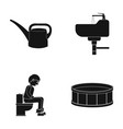 tool plumbing equipment and other web icon in vector image