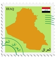 mail to-from Iraq vector image vector image