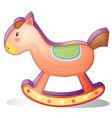A wooden horse toy vector image