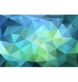 blue and green low poly background vector image