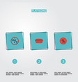 flat icons payment support percentage and other vector image