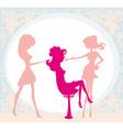 girl in a beauty salon vector image