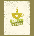 green tea rough design element concept vector image