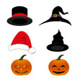 hat holiday set vector image