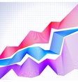 Infographic chart with blended graphs vector image
