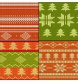 Knitting Pattern set vector image