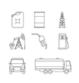 Linear oil icons vector image