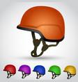 set of sport helmet vector image
