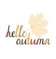 The inscription Hello autumn vector image