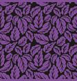 violet leaves seamless pattern vector image