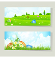 Easter Cards with Eggs vector image