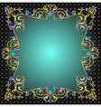 background frame with jewels of gold ornaments vector image vector image