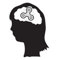 woman with spinner in the brains vector image