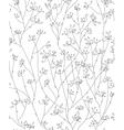 floral pattern black vector image