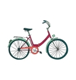 Colored doodle bicycle vector image